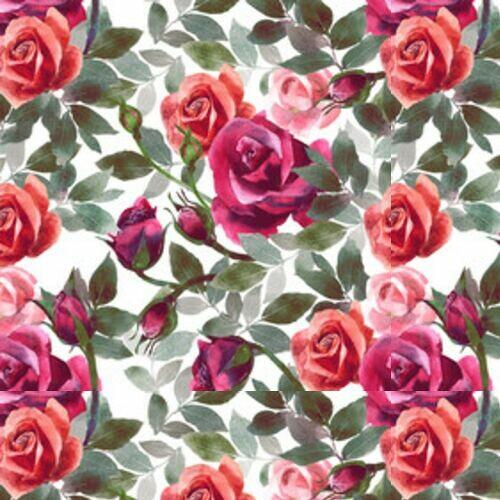 fab2455a511a29 Akwarelowe czerwone róże - Tapety winylowe - Decor Mint