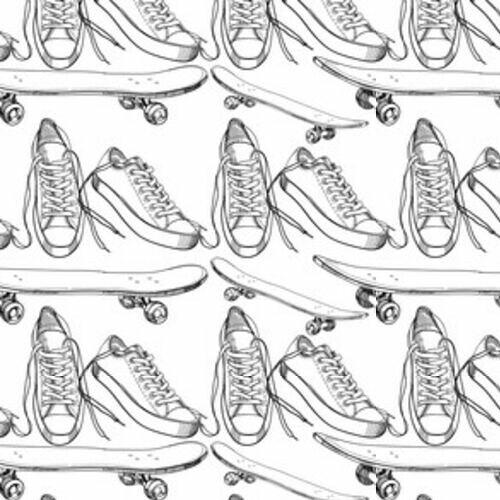 a1333d0d9dad9 Ilustracja obuwia sportowego z wzorem deskorolka, w - Tapety ...