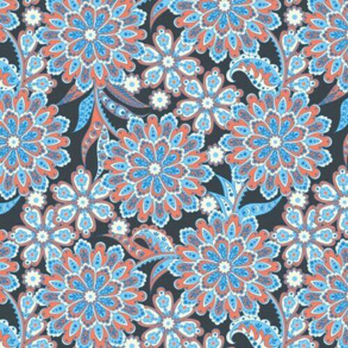 Perskie Dekoracje Motyw Kwiatowy W Kolorach Niebieskim I Czarwonym
