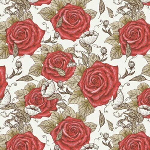 tapeta-czerwone-roze-vintage-dekoracja-scienna