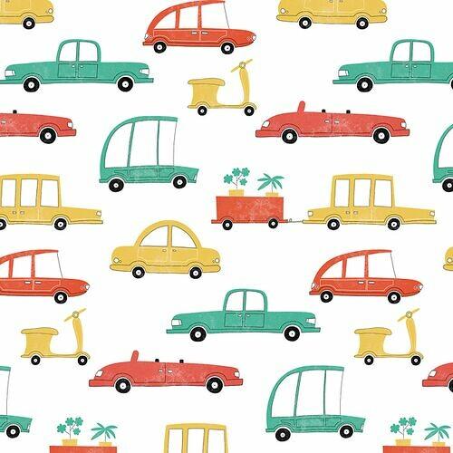 tapeta-do-pokoju-chlopca-samochodziki-kolorowe