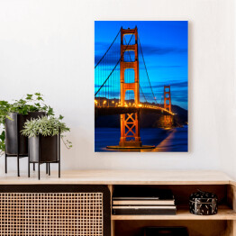 Golden Gate Bridge San Francisco przed zmierzchem w USA