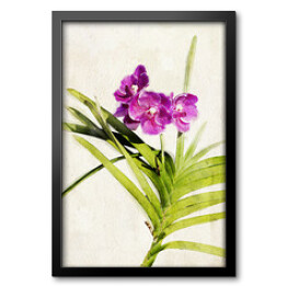Watercolored orchid