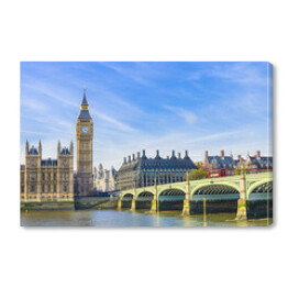 Westminster Bridge, Houses of Parliament i Thames river, UK