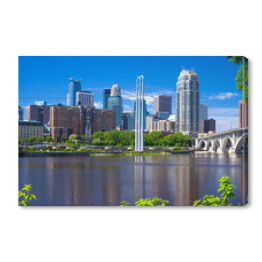 Rzeka Missisipi, panoramę Minneapolis