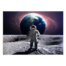 Plakat Premium Na ścianę Kosmos Astronauta Decor Mint