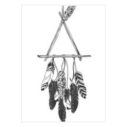 Native American Indian Dreamcatcher z piór.