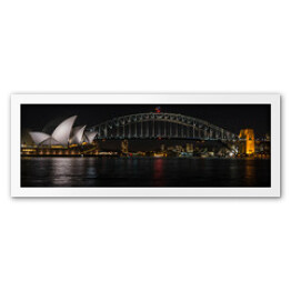 Sydney Opera House i Harbour Bridge w nocy