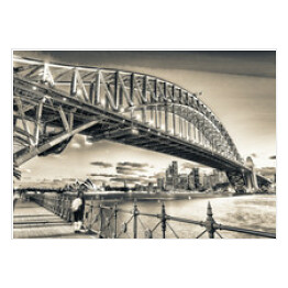 Skyward nocy widok Sydney Harbour Bridge