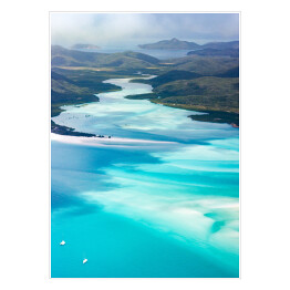 Whitsundays z lotu ptaka, Queensland, Australia