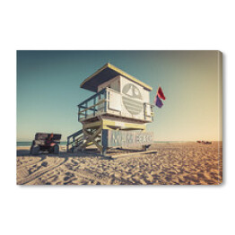 Lifeguard Tower na plaży, Miami Beach