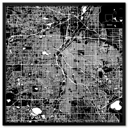Mapa miasta Denver, USA