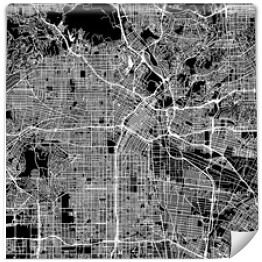 Mapa miasta Los Angeles, USA