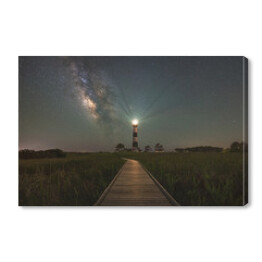 Boardwalk To Bodie Island Light w nocy
