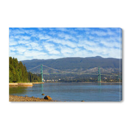 Lions Gate Bridge przy Stanley Park