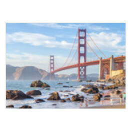 Golden Gate Bridge, San Francisco, Kalifornia - widok z wybrzeża