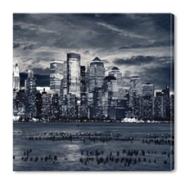 New York City Downtown od strony Jersey