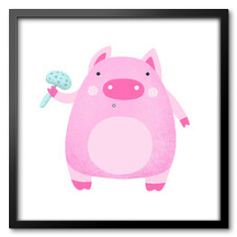 Pink Cartoon Pig