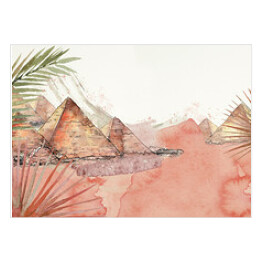 Egypt. Watercolor travel bacground.