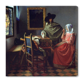 Jan Vermeer - The Glass of Wine, reprodukcja