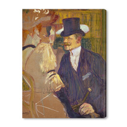 Henri de Toulouse-Lautrec - The Englishman at the Moulin Rouge, reprodukcja