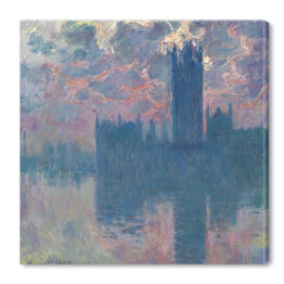 Claude Monet - The Houses of Parliament 2 (reprodukcja)