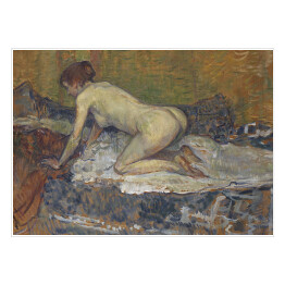 Henri de Toulouse-Lautrec - Red-Headed Nude Crouching, reprodukcja