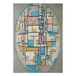 "Piet Mondriaan ""Composition in oval with color planes 1"""