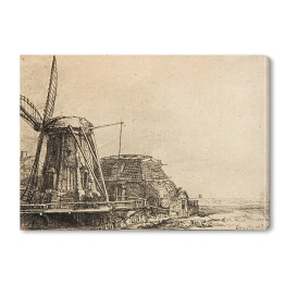 Rembrandt - The windmill (reprodukcja)