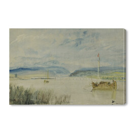 William Turner - Neuwied and Weissenthurm on river Rhine, reprodukcja