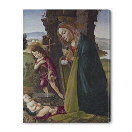 "Sandro Botticelli ""Adoration of Christ with Saint John"" reprodukcja"