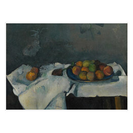 "Paul Cezanne ""Still Life Plate of Peaches"" reprodukcja"