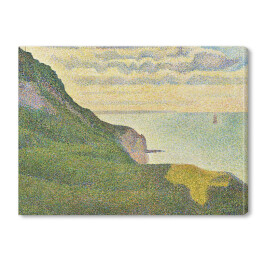 "Georges Seurat ""Seascape at Port-en-Bessin, Normandy"" reprodukcja"