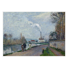 "Camille Pissarro ""The Oise near Pontoise in Grey Weather"" reprodukcja"