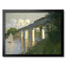 Claude Monet - The Railroad Bridge in Argente (reprodukcja)