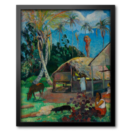 Paul Gauguin - The Black Pigs, reprodukcja