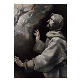 "El Greco ""Saint francis receiving the stigmata"" reprodukcja"