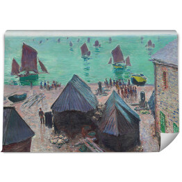 "Claude Monet ""The Departure of Boats, Etretat"" - reprodukcja"