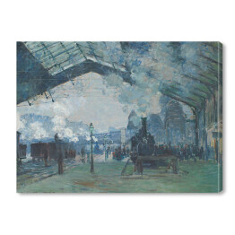 Claude Monet - Arrival of the Normandy Train (reprodukcja)