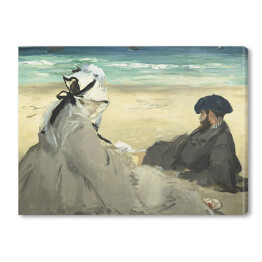 Edouard Manet - On the Beach, reprodukcja