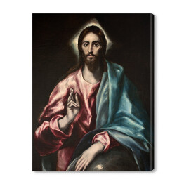 El Greco - Christ as Saviour [reprodukcja]