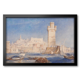 "Joseph Mallord William Turner ""Rodos"" - reprodukcja"