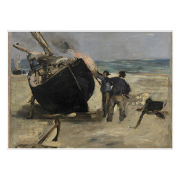 Édouard Manet - Tarring the Boat, reprodukcja