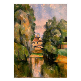 "Paul Cézanne ""Country House by a River"" reprodukcja"