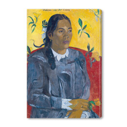 Paul Gauguin - Tahitian Woman with a Flower, reprodukcja