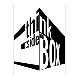 Think outside the box - napis