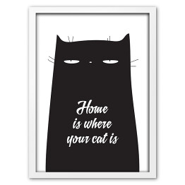 Ilustracja z hasłem Home is where your cat is