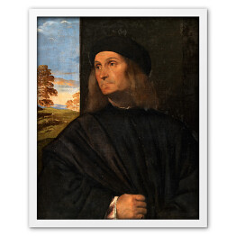 "Tycjan ""Portret of the painter Giovanni Bellini"""