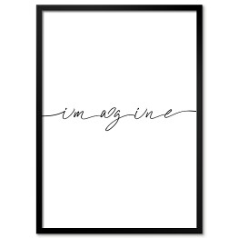 "Szary napis ""imagine"""