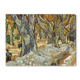 "Vincent van Gogh ""The Large Plane Trees (Road Menders at Saint Remy)"" - reprodukcja"
